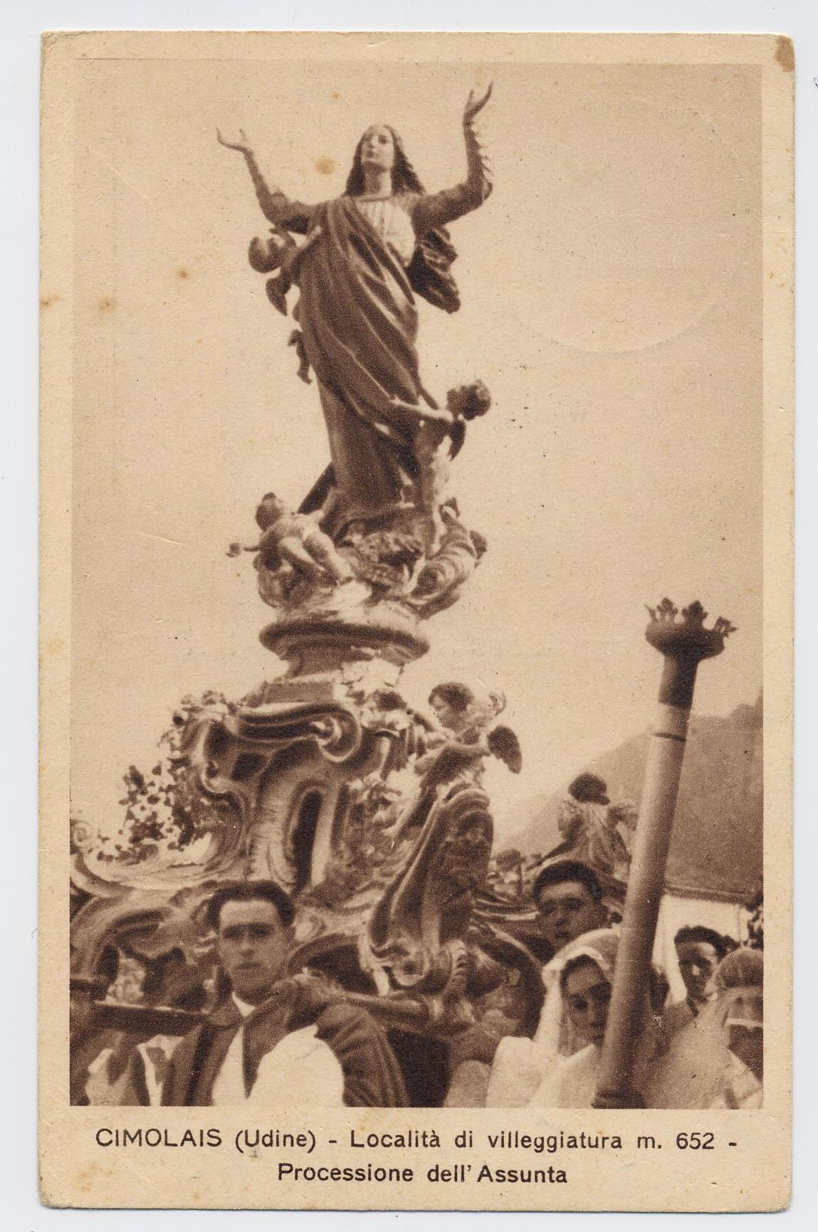 Cimolais - Festa dell'Assunta - 1937