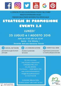 STRATEGIE DI PROMOZIONE EVENTI 2.0